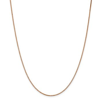 14k Rose Gold 1.10mm Box Chain