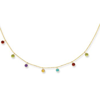 14K Gold Semi-Precious Necklace