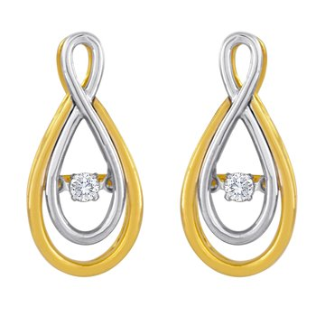 14KWY 1/10CTW HEARTBEAT COLLECTION EARRING