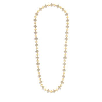 18Kt Gold Link Chain With Diamonds
