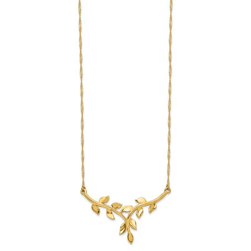 Lester Martin Online Collection 14K Polished Leaf Necklace