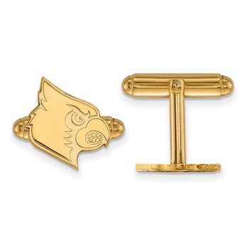 Gold-Plated Sterling Silver University of Louisville NCAA Cuff Links