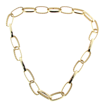 18KT GOLD LINK NECKLACE