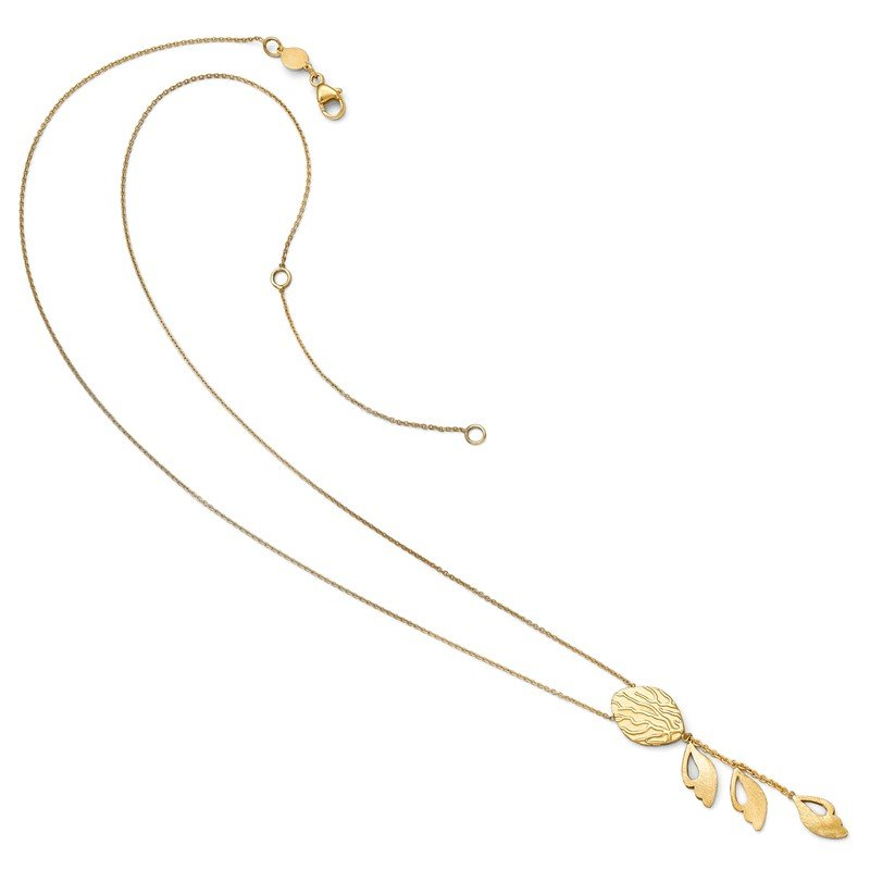 Leslie's Leslie's 14k Brushed and Textured Necklace w/2in ext