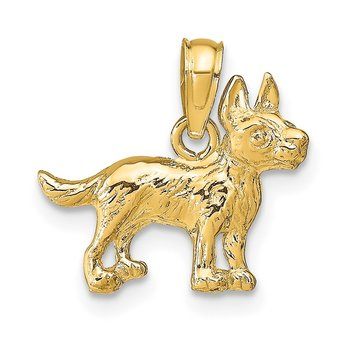 14k Terrier Dog Pendant