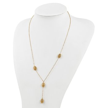 Leslie's 14k Brushed and Diamond-cut Fancy Necklace
