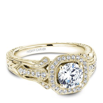 Noam Carver Regal Engagement Ring B079-01YA