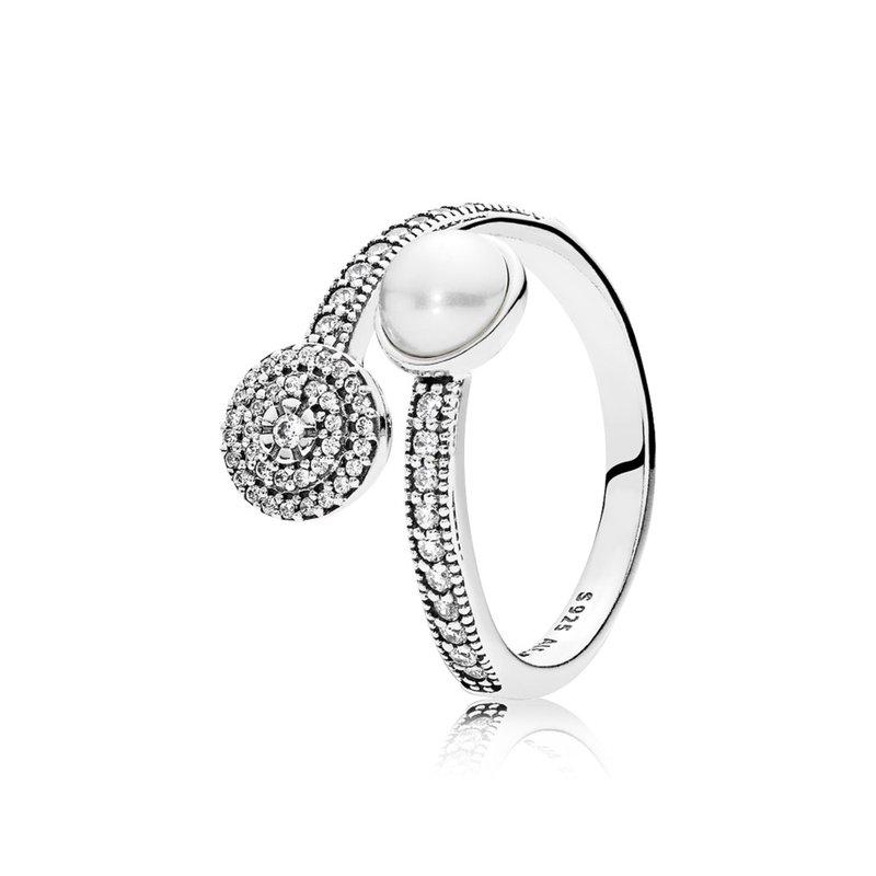 Michael Eller Diamonds: PANDORA Luminous Glow Ring, White Crystal