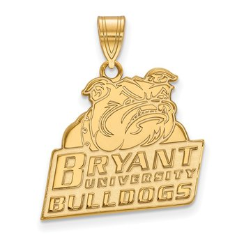 Gold-Plated Sterling Silver Bryant University NCAA Pendant