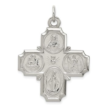 Sterling Silver 4-way Reversible Medal
