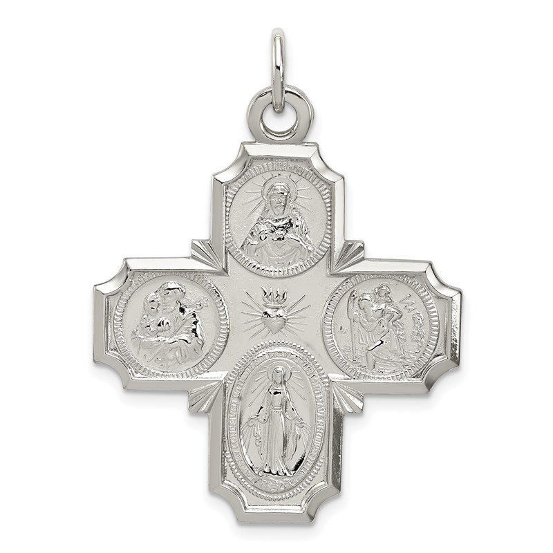 Quality Gold Sterling Silver 4-way Reversible Medal