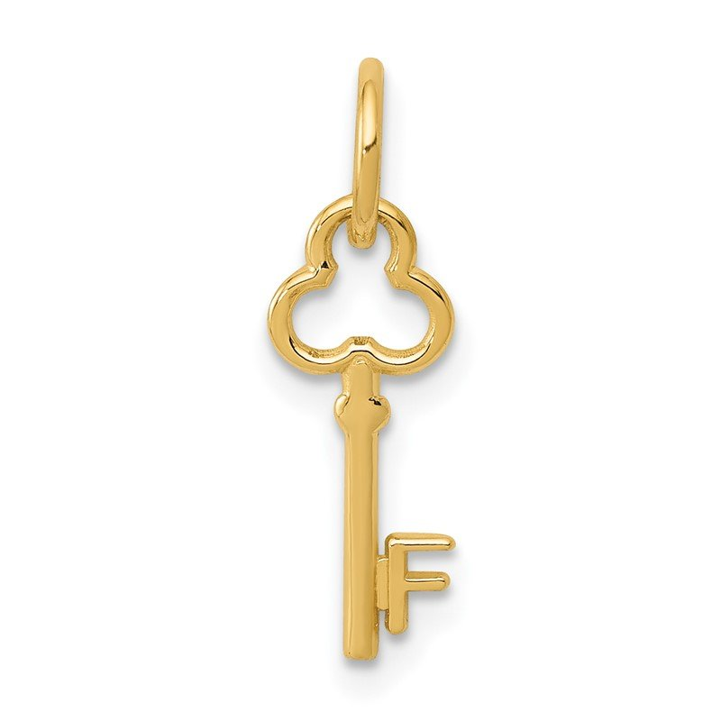 Quality Gold 14k Key Letter F Initial Charm