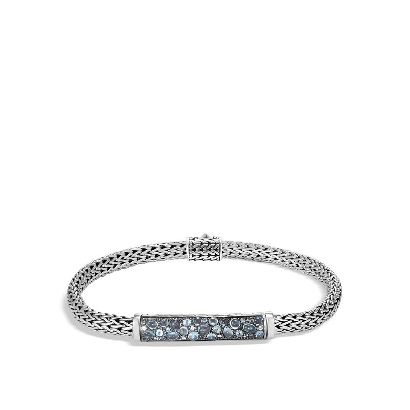 JOHN HARDY Classic Chain 5MM Station Bracelet in Silver with Gemstone