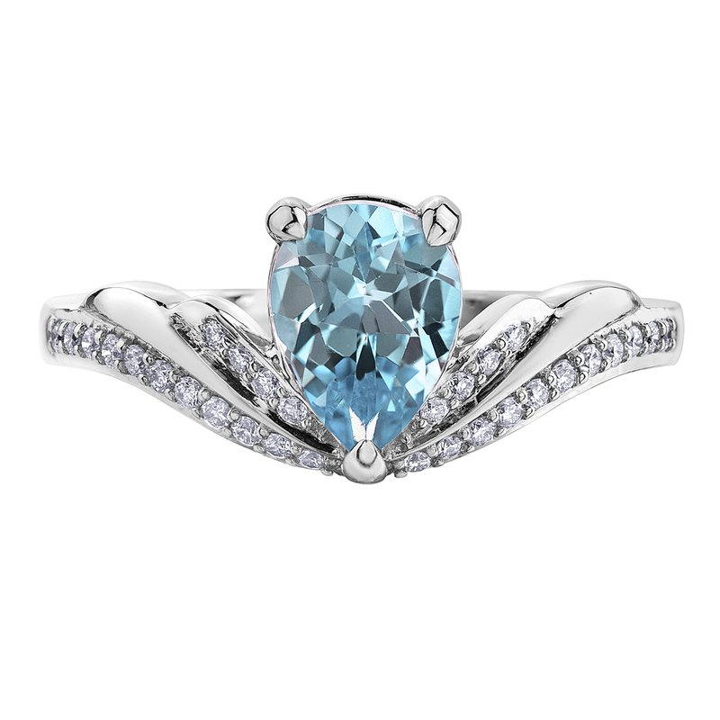 Timeless Beauty Sky Blue Topaz Ladies Ring