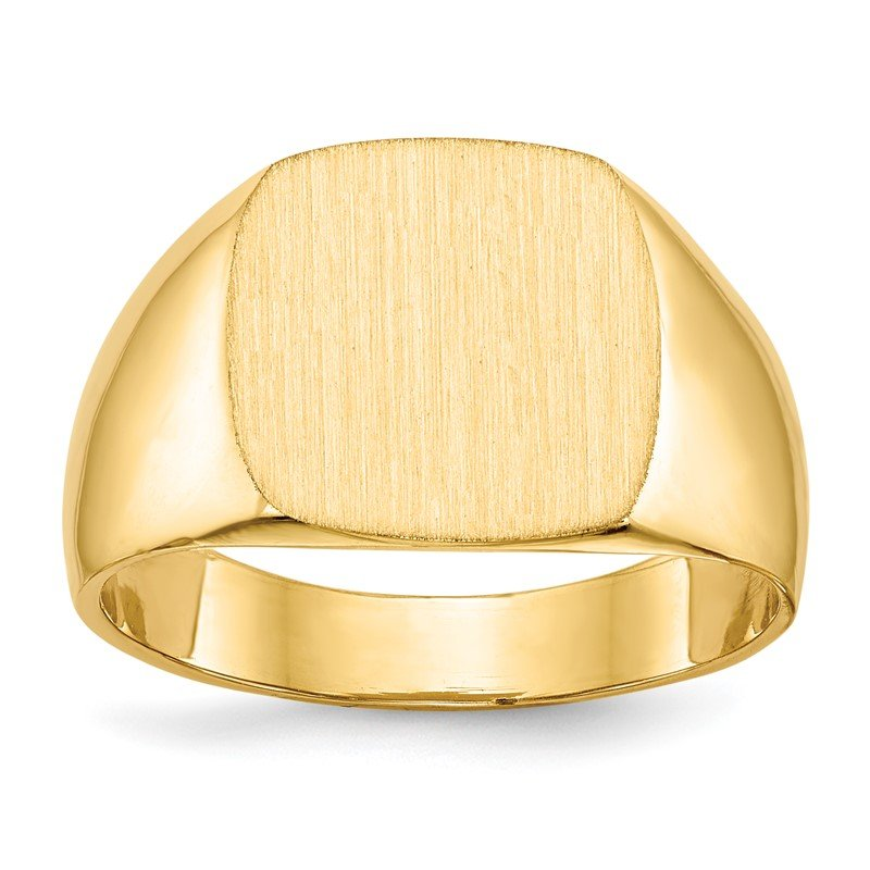 Quality Gold 14k 12.0x13.0mm Closed Back Men's Signet Ring