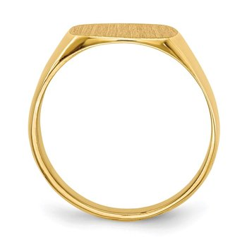 14k 12.0x13.0mm Closed Back Men's Signet Ring