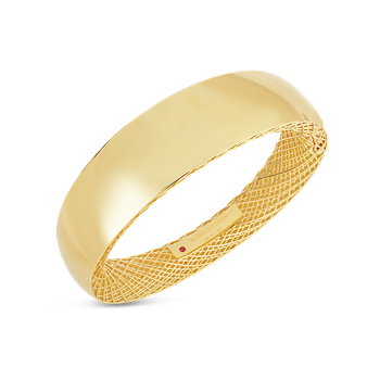 Wide Gold Bangle