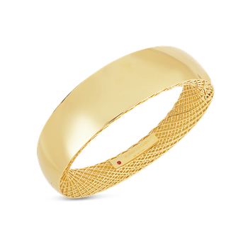 18KT GOLD WIDE BANGLE