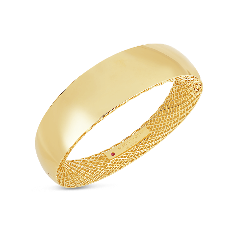 Roberto Coin 18Kt Gold Wide Bangle