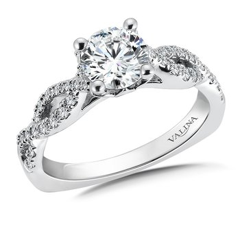 Diamond Engagement Ring Mounting in 14K White Gold (.30 ct. tw.)