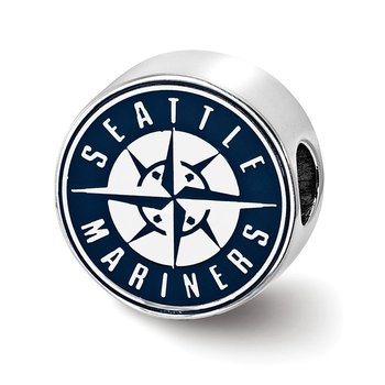 Sterling Silver Seattle Mariners MLB Bead