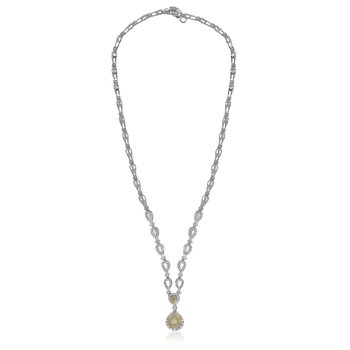 Pear-shaped Diamond Drop Necklace