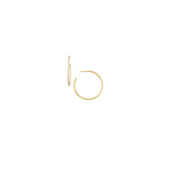 #24965 Of 18Kt Gold Xlarge Inside Outside Diamond Hoop Earrings