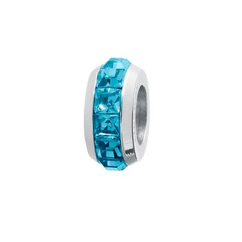 316L stainless steel and indicolite Swarovski® Elements crystals