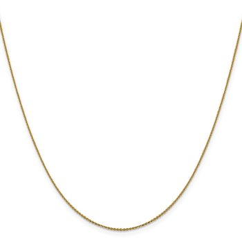 Leslie's 14K .90 mm Diamond-cut Cable Chain