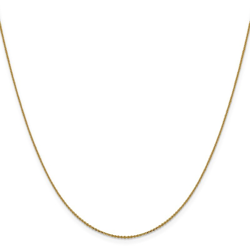 Leslie's Leslie's 14K .90 mm Diamond-cut Cable Chain