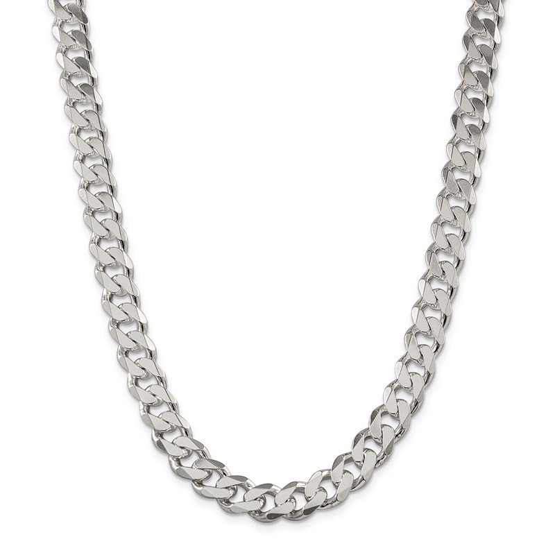 Quality Gold Sterling Silver 11mm Curb Chain