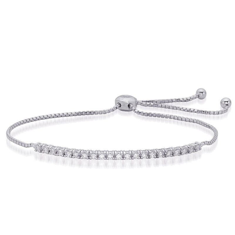 S. Kashi  & Sons White Gold Bolo Diamond Bracelet