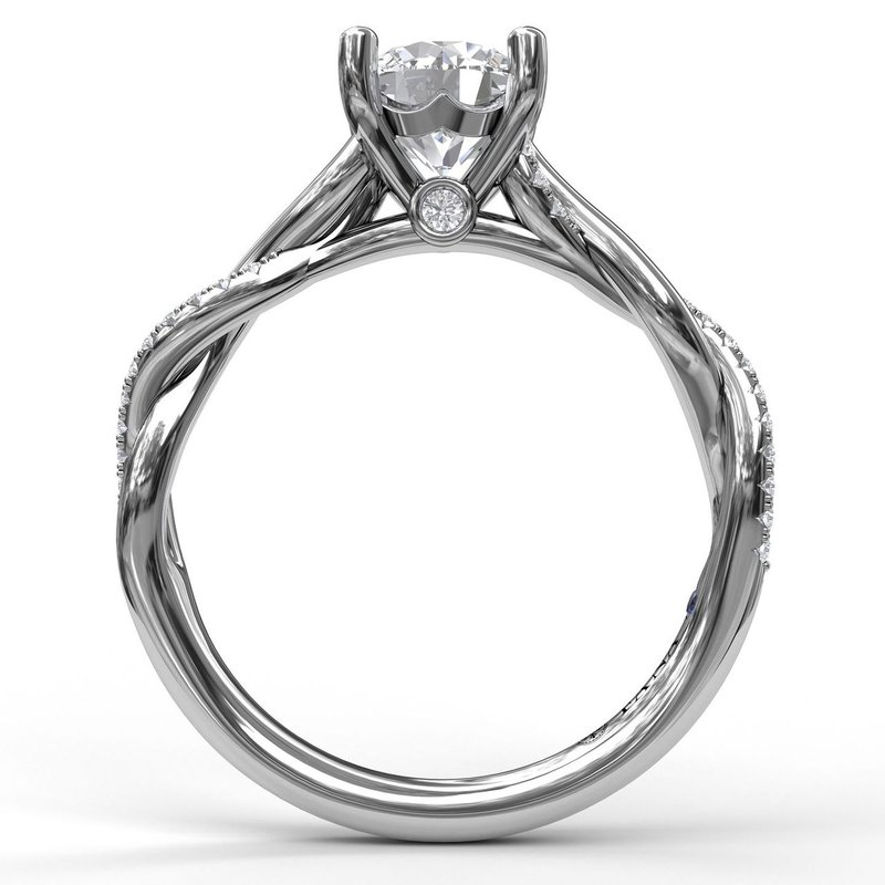 Fana Round Cut Solitaire With Interwoven Band