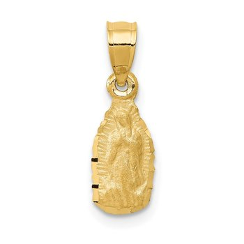 14k Satin & D/C Our Lady of Guadalupe Pendant