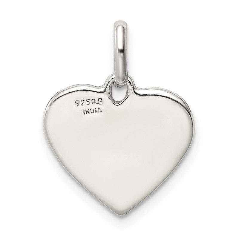 Quality Gold Sterling Silver Enamel Heart Peace Charm