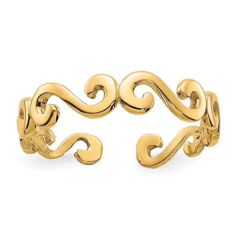 Quality Gold 14k Swirl Toe Ring