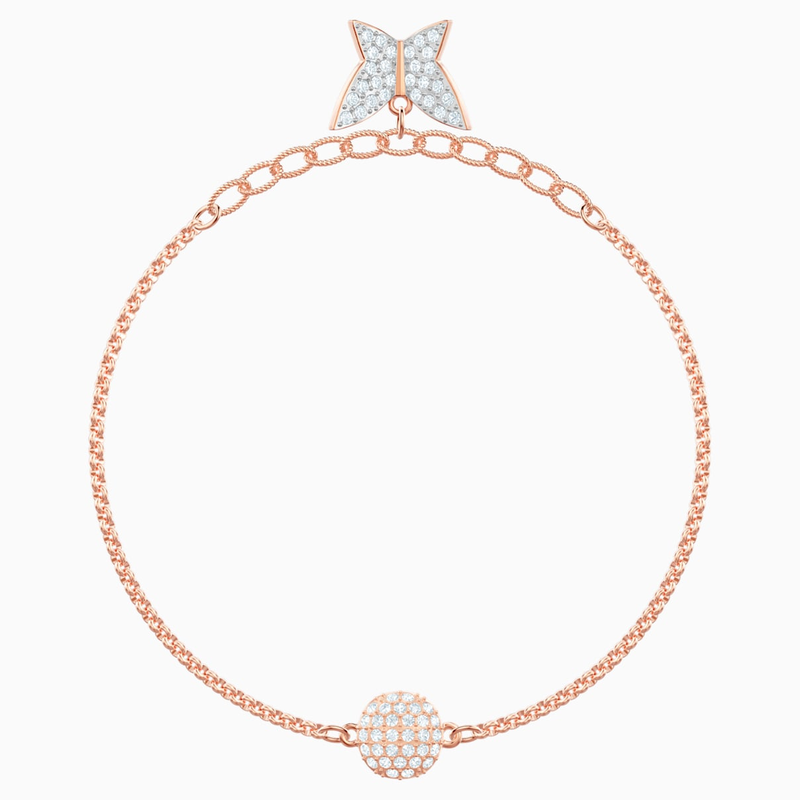 Swarovski Swarovski Remix Collection Lilia Strand, White, Rose-gold tone plated