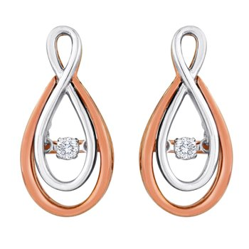 14KWP 1/10CTW HEARTBEAT COLLECTION EARRING