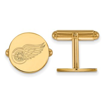 Gold-Plated Sterling Silver Detroit Red Wings NHL Cuff Links