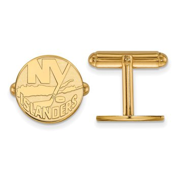 Gold-Plated Sterling Silver New York Islanders NHL Cuff Links