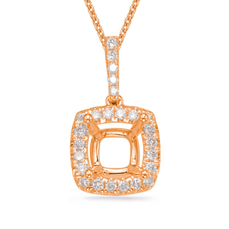 S. Kashi  & Sons Diamond Pendant For 5.8mm Cushion