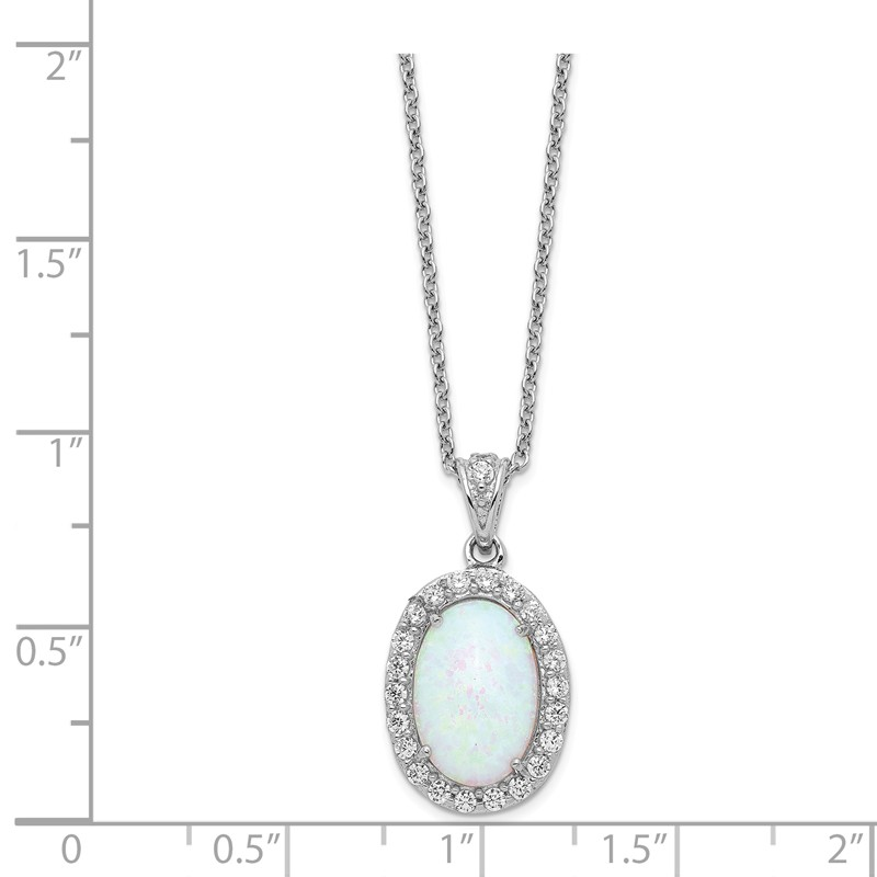 Sterling Silver Jewelry Pendants /& Charms Solid Lab Created Opal Polished Teardrop Pendant