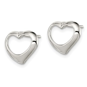 Sterling Silver Heart Post Earrings