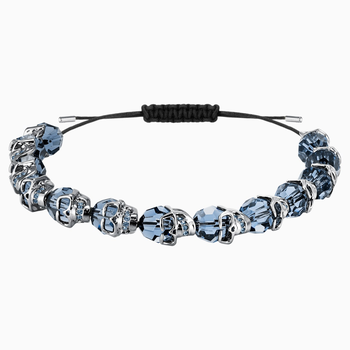 Taddeo Bracelet, Blue, Ruthenium plated