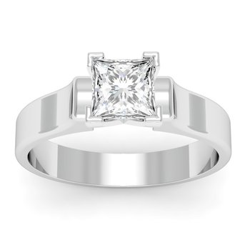 Contour Solitaire Engagement Ring