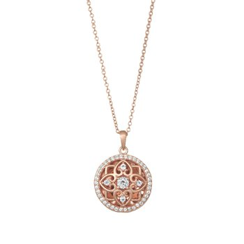 Elsie Locket Necklace Rose Gold