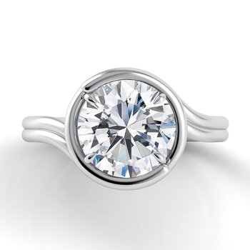 Abbraccio Double Swirl Engagement Ring