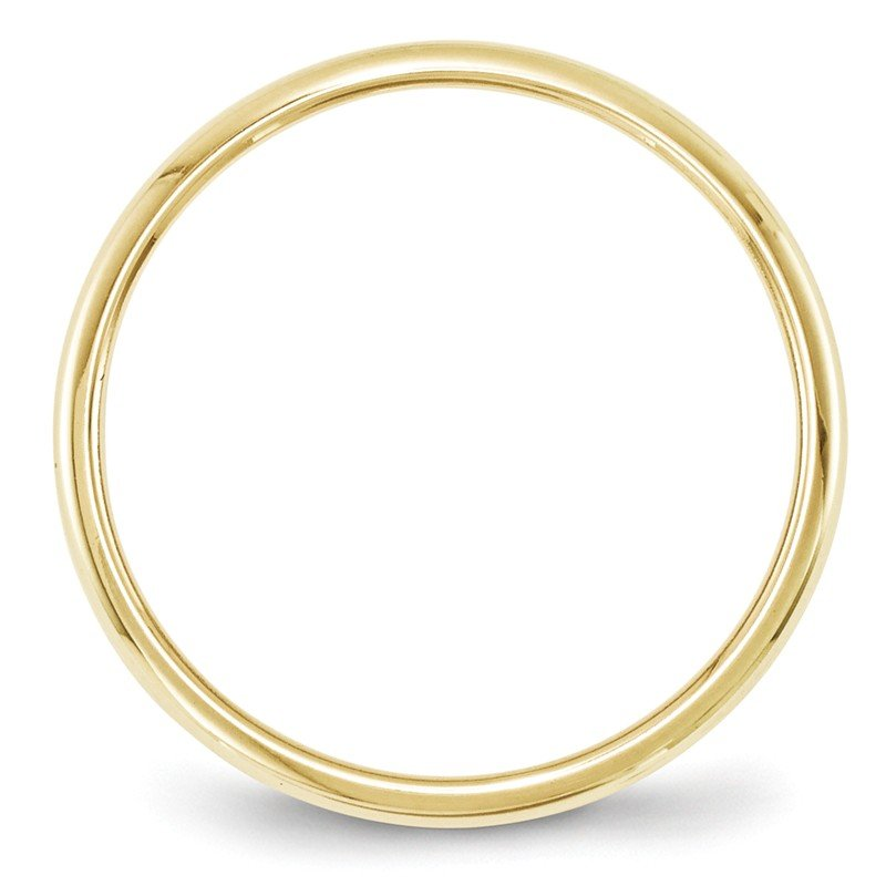 Quality Gold 10KY 2mm Half Round Band Size 10