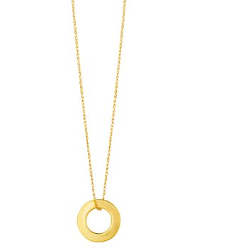 14K Gold Mini Open Circle Necklace