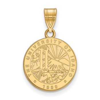 Gold-Plated Sterling Silver University of Idaho NCAA Pendant
